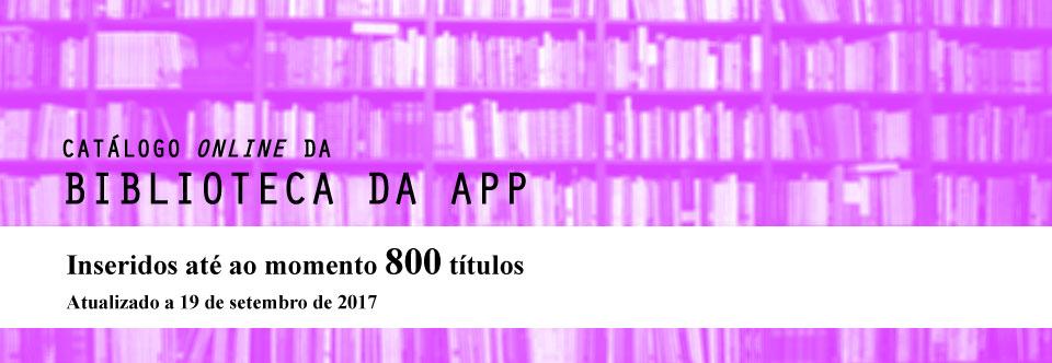 Catálogo online da biblioteca da APP