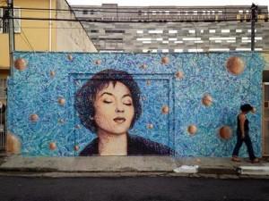 Street Art Clarice lispector na Vila Madalena by Jimmy C. e Sliks